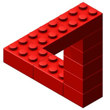 Escher Toy Bricks - Red by chwatson