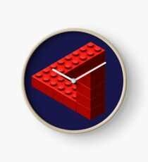 Escher Toy Bricks - Red Clock