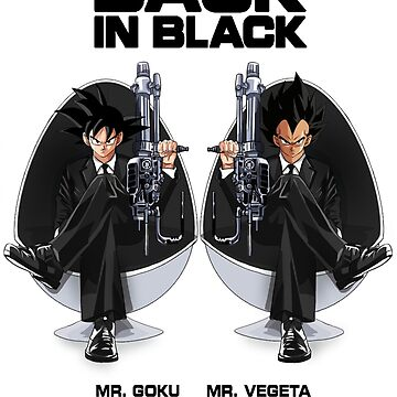 Goku & Vegeta mash up Men in Black by nathdesign