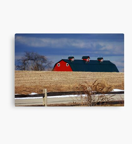 Melting into the Fields Canvas Print