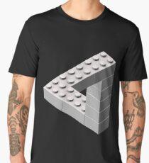 Escher Toy Bricks - White Men's Premium T-Shirt