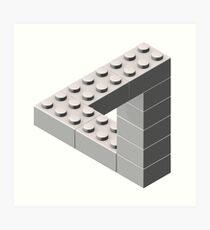 Escher Toy Bricks - White Art Print