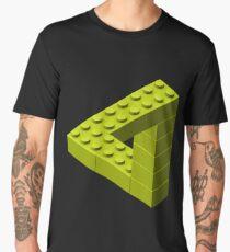 Escher Toy Bricks - Yellow Men's Premium T-Shirt
