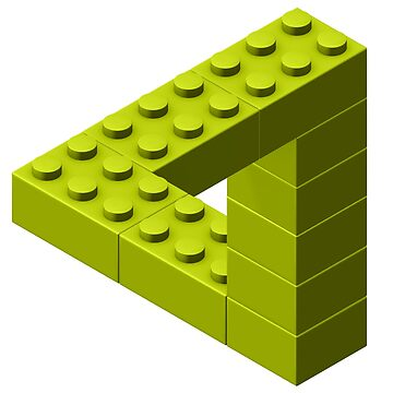 Escher Toy Bricks - Yellow by chwatson