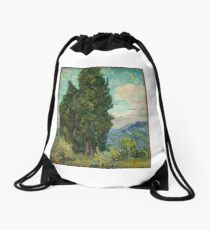 Cypresses Drawstring Bag