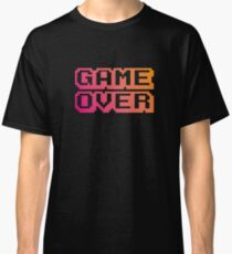 Game Over Pixel Font With Gradient Classic T-Shirt