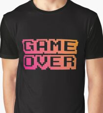 Game Over Pixel Font With Gradient Graphic T-Shirt