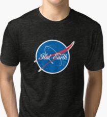 NASA Flat Earth Coke parody logo Tri-blend T-Shirt