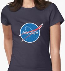 NASA Flat Earth Coke parody logo Women's Fitted T-Shirt