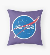 NASA Flat Earth Coke parody logo Throw Pillow