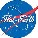NASA Flat Earth Coke parody logo by GLOBEXIT
