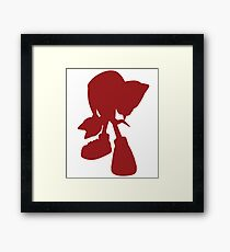 Knuckles the echidna Framed Print