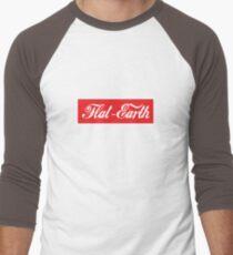 Flat Earth Coke parody logo Men's Baseball ¾ T-Shirt