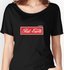 Flat Earth Coke parody logo Women's Relaxed Fit T-Shirt