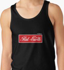 Flat Earth Coke parody logo Tank Top