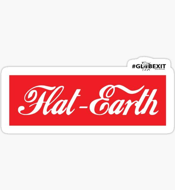 Flat Earth Coke parody logo by GLOBEXIT