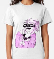 LEWD (PINK) - Sad Japanese Anime Aesthetic Classic T-Shirt