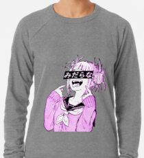 LEWD (ROSE) - Esthétique anime japonais triste Sweatshirt léger