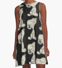 Doggy Thoughts A-Line Dress