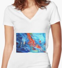 Destined to find an answer, 120-80 cm, 2018, oil on canvas Women's Fitted V-Neck T-Shirt