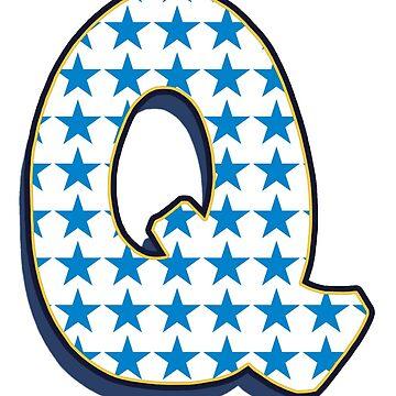 Letter Q - stars by paintcave