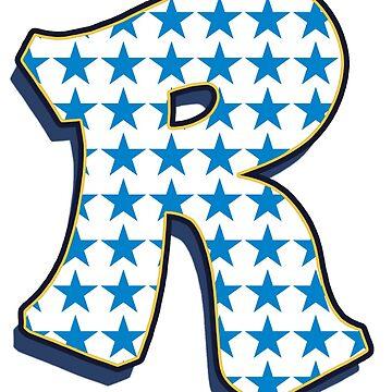 Letter R - stars by paintcave