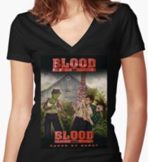 Dragon Ball: Blood In Blood Out Women's Fitted V-Neck T-Shirt