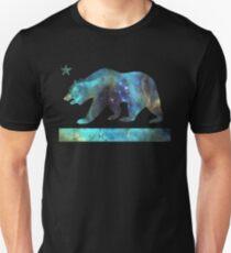 California Bear Flag (tiefe Galaxie Design) Slim Fit T-Shirt