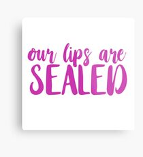 our lips are sealed. Metal Print