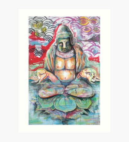 Submerged Buddha Art Print