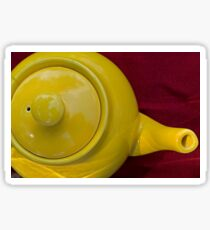 Yellow Tea Pot as seen from above Sticker