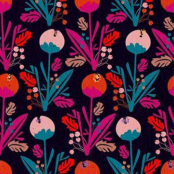 Douces fleurs Dark by AnnyCeciliaWalt