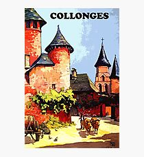 Collonges, France, vintage french poster Photographic Print