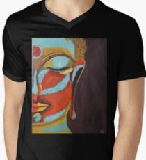 A Buddha Mind Men's V-Neck T-Shirt