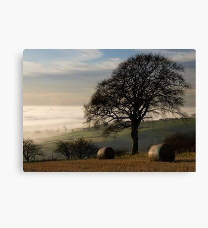 Fog over the vale of York Canvas Print