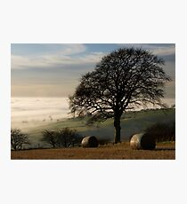 Fog over the vale of York Photographic Print