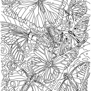 Coloring Book of Butterflies by TinaGraphics