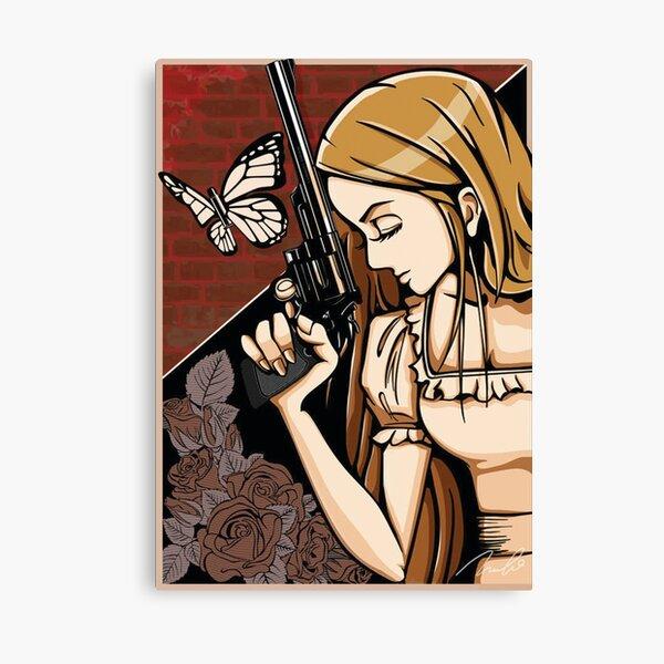 Girl Took A Gun Canvas Print