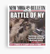 'Battle of New York' Newspaper cover  Metal Print