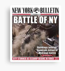 'Battle of New York' Newspaper cover  Canvas Print