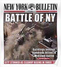"""""""Schlacht von New York"""" Newspaper-Cover Poster"""