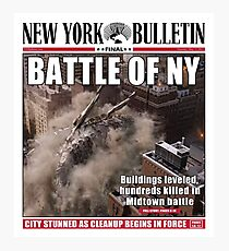 'Battle of New York' Newspaper cover  Photographic Print