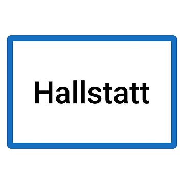 Hallstatt Place Name Sign by lukassfr