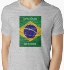 Eu Sou Brasileiro Com Muito Orgulho, Com Muito Amor Men's V-Neck T-Shirt