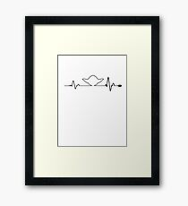 Yoda heartbeats. Framed Print