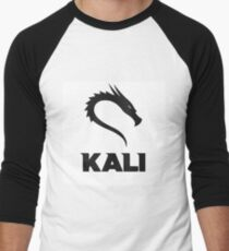 Kali Linux logo Men's Baseball ¾ T-Shirt