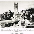 A Post-Chaise leaving the Oxford Turnpike bound for London,  circa 1800 by artfromthepast