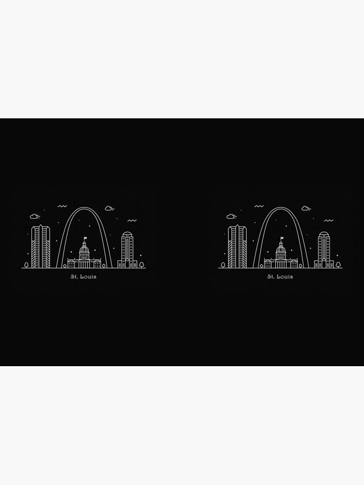 Cartel de arte de línea mínima de St. Louis Skyline de geekmywall