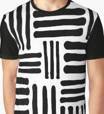 Black & White Pattern Graphic T-Shirt
