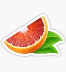 Piece of sicilian orange Sticker